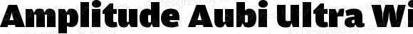 Amplitude Aubi Ultra Wide Version 001.001; t1 to otf conv