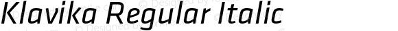Klavika Regular Italic
