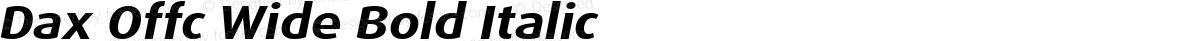 Dax Offc Wide Bold Italic