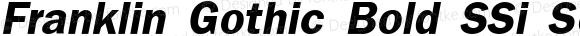 Franklin Gothic Bold SSi Semi Bold Italic