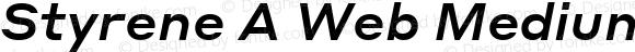 Styrene A Web Medium Italic