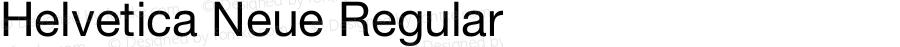 Helvetica Neue Regular Version 1.0