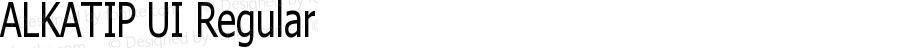 ALKATIP UI Regular Version 6.00 May 5, 2017