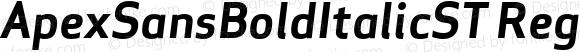 ApexSansBoldItalicST Regular 003.000