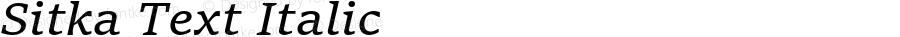 Sitka Text Italic Version 1.11