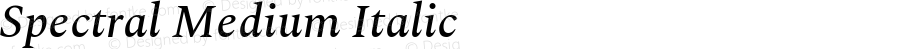 Spectral Medium Italic