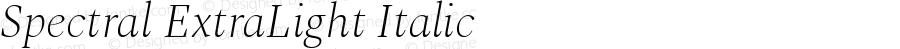 Spectral ExtraLight Italic