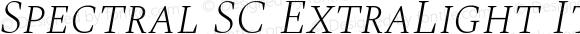 Spectral SC ExtraLight Italic