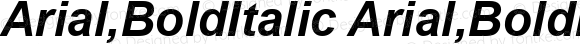 Arial,BoldItalic Arial,BoldItalic Version 2.90 July 15, 2015