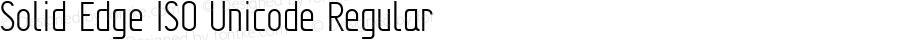 Solid Edge ISO Unicode Regular Version 2.000