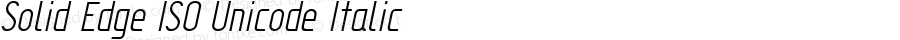 Solid Edge ISO Unicode Italic Version 2.000