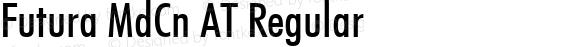 Futura MdCn AT Regular Macromedia Fontographer 4.1 25.11.1996