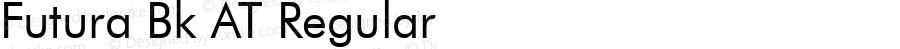 Futura Bk AT Regular Macromedia Fontographer 4.1 25.11.1996