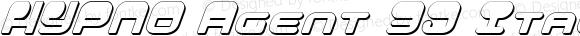 HYPNO Agent 3D Italic 3D Italic
