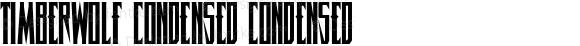 Timberwolf Condensed Condensed 001.000