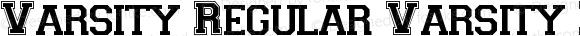 Varsity Regular Varsity Regular Macromedia Fontographer 4.1 5/28/96