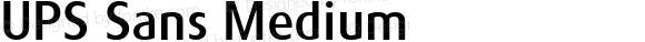 UPS Sans Medium Version 1.001 Mactt