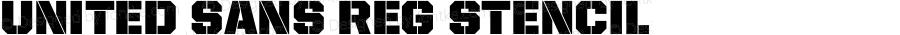 United Sans Reg Stencil Version 1.101;PS 001.001;hotconv 1.0.38