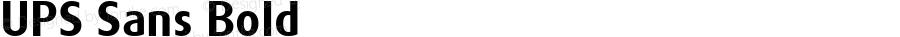 UPS Sans Bold Version 1.001 Mactt
