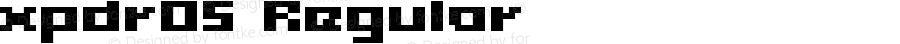 xpdr05 Regular Macromedia Fontographer 4.1 24/12/2002