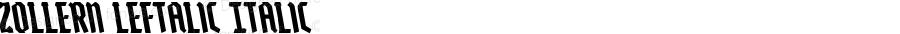 Zollern Leftalic Italic Version 1.0; 2012