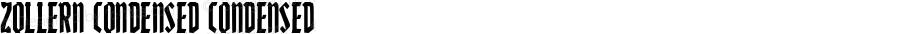 Zollern Condensed Condensed Version 1.0; 2012