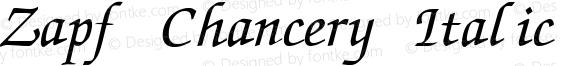 Zapf Chancery Italic:001.007