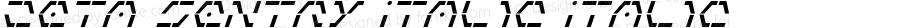 Zeta Sentry Italic Italic 001.000