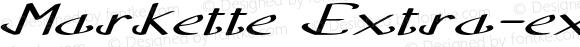 Markette Extra-expanded Italic