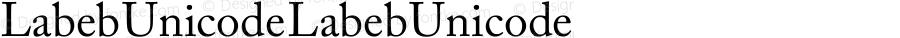 Labeb Unicode Labeb Unicode Version 1.00