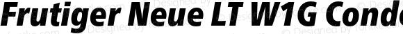 Frutiger Neue LT W1G Condensed Extra Black Italic