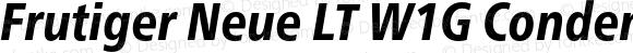 Frutiger Neue LT W1G Condensed Heavy Italic
