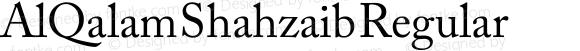 AlQalam Shahzaib Regular Version 1.00
