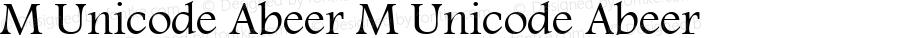 M Unicode Abeer M Unicode Abeer M Unicode Abeer