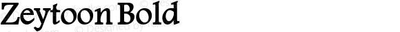 Zeytoon Bold Macromedia Fontographer 4.1 19/05/02