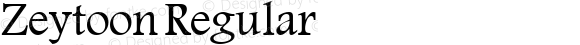 Zeytoon Regular Macromedia Fontographer 4.1 19/05/02