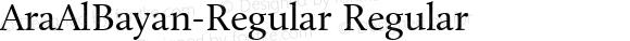 AraAlBayan-Regular Regular Version 1.000;PS 002.000;hotconv 1.0.70;makeotf.lib2.5.58329