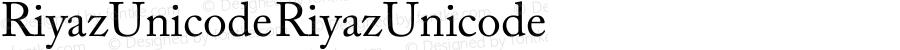 Riyaz Unicode Riyaz Unicode Version 1.00