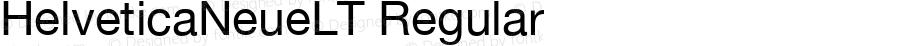 HelveticaNeueLT Regular Version 1.01 November 5, 2014
