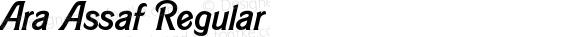 Ara Assaf Regular Version 1.002;PS 001.002;hotconv 1.0.70;makeotf.lib2.5.58329