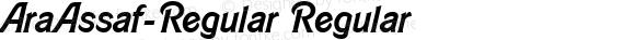 AraAssaf-Regular Regular Version 1.002;PS 001.002;hotconv 1.0.70;makeotf.lib2.5.58329