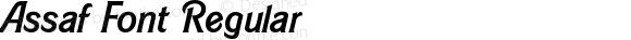 Assaf Font Regular Version 1.002;PS 001.002;hotconv 1.0.70;makeotf.lib2.5.58329