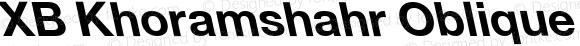 XB Khoramshahr Oblique Bold