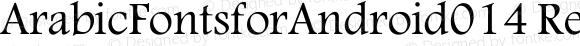 ArabicFontsforAndroid014 Regular Version 1.0.0