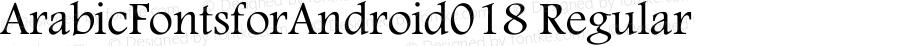 ArabicFontsforAndroid018 Regular Version 1.0.0