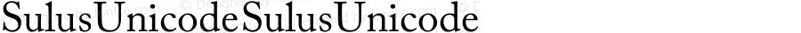 Sulus Unicode Sulus Unicode Version 1.00