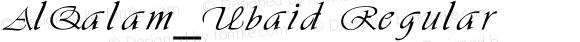AlQalam_Ubaid Regular Version 1.00 Dec 2007