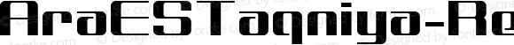 AraESTaqniya-Regular Regular Version 1.000;PS 001.000;hotconv 1.0.70;makeotf.lib2.5.58329