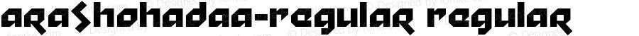 AraShohadaa-Regular Regular Version 1.000;PS 001.000;hotconv 1.0.70;makeotf.lib2.5.58329