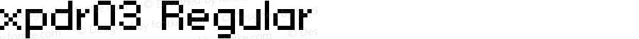 xpdr03 Regular Macromedia Fontographer 4.1 23/12/2002